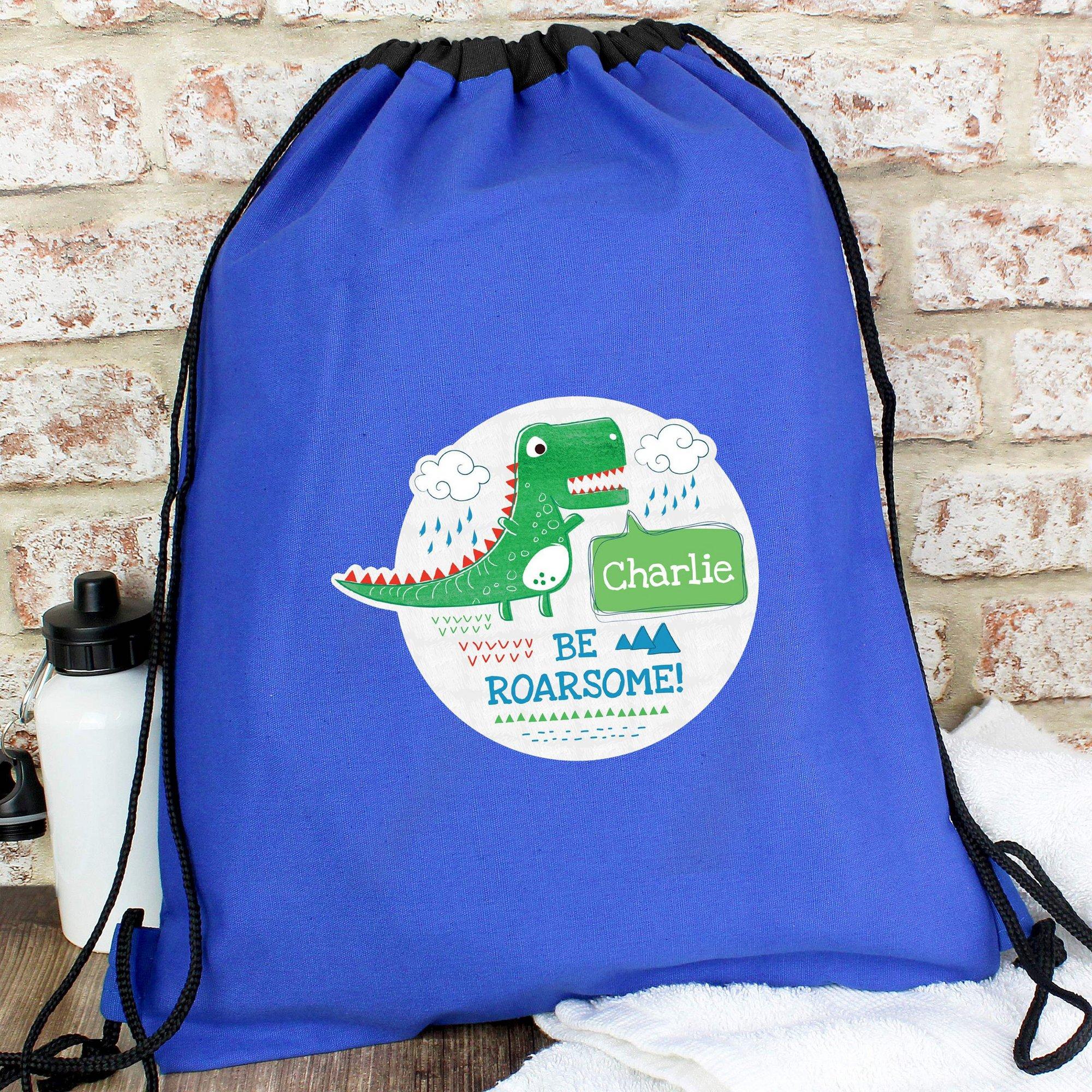 Image of Personalised Be Roarsome Dinosaur Swim and PE Bag