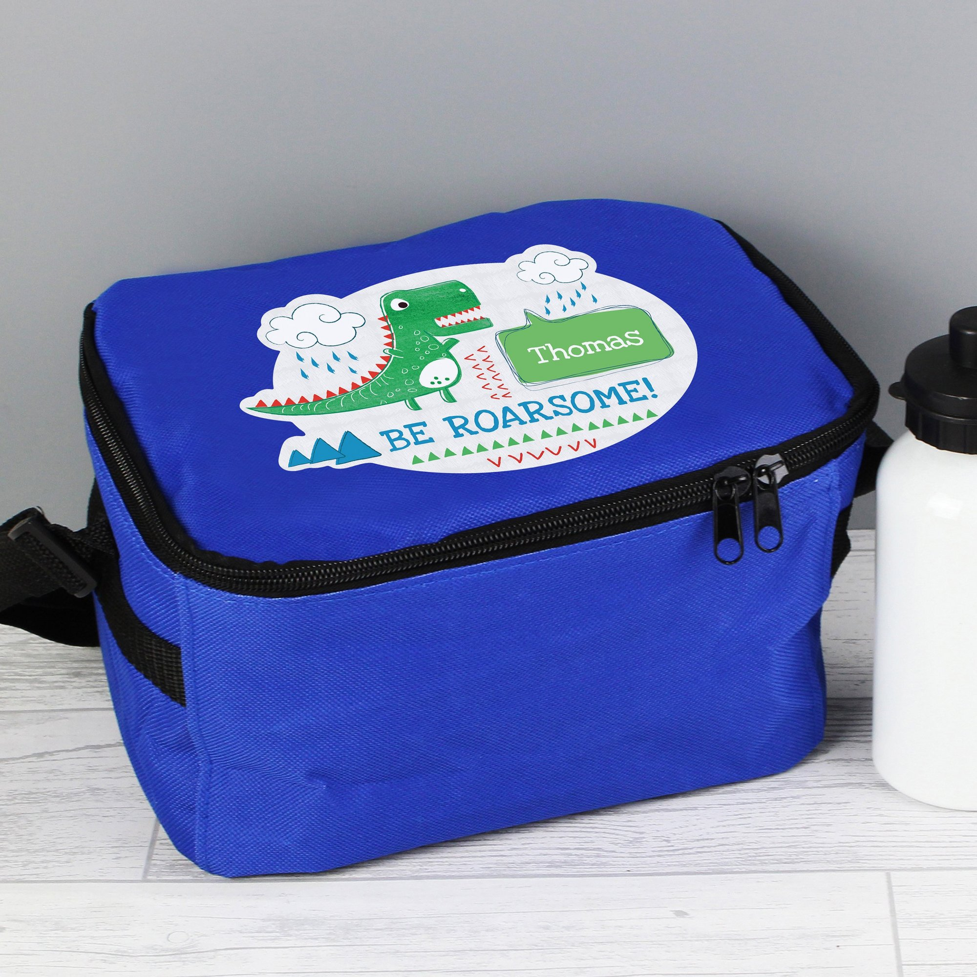 Image of Personalised Be Roarsome Dinosaur Lunch Bag