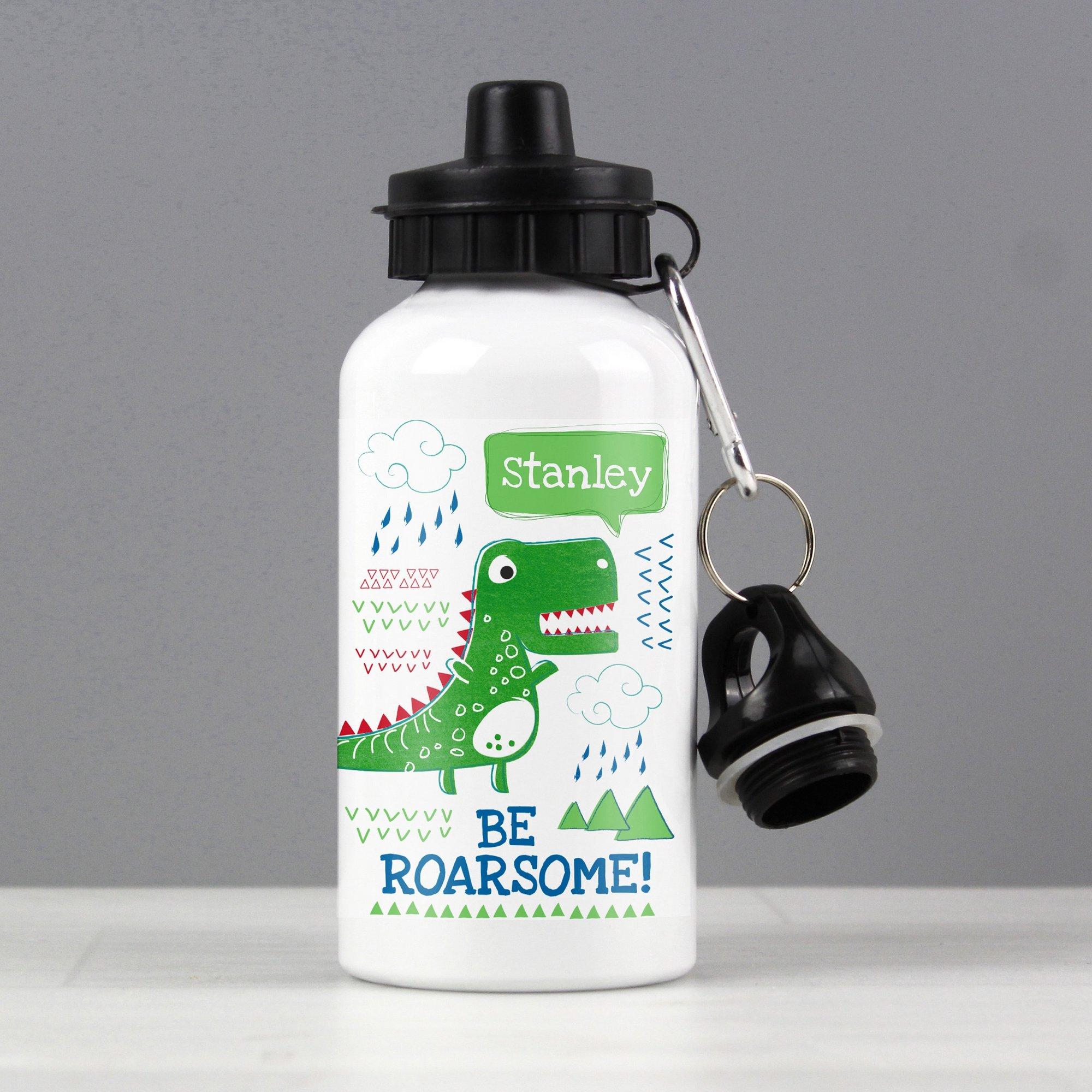 Image of Personalised Be Roarsome Dinosaur Drinks Bottle