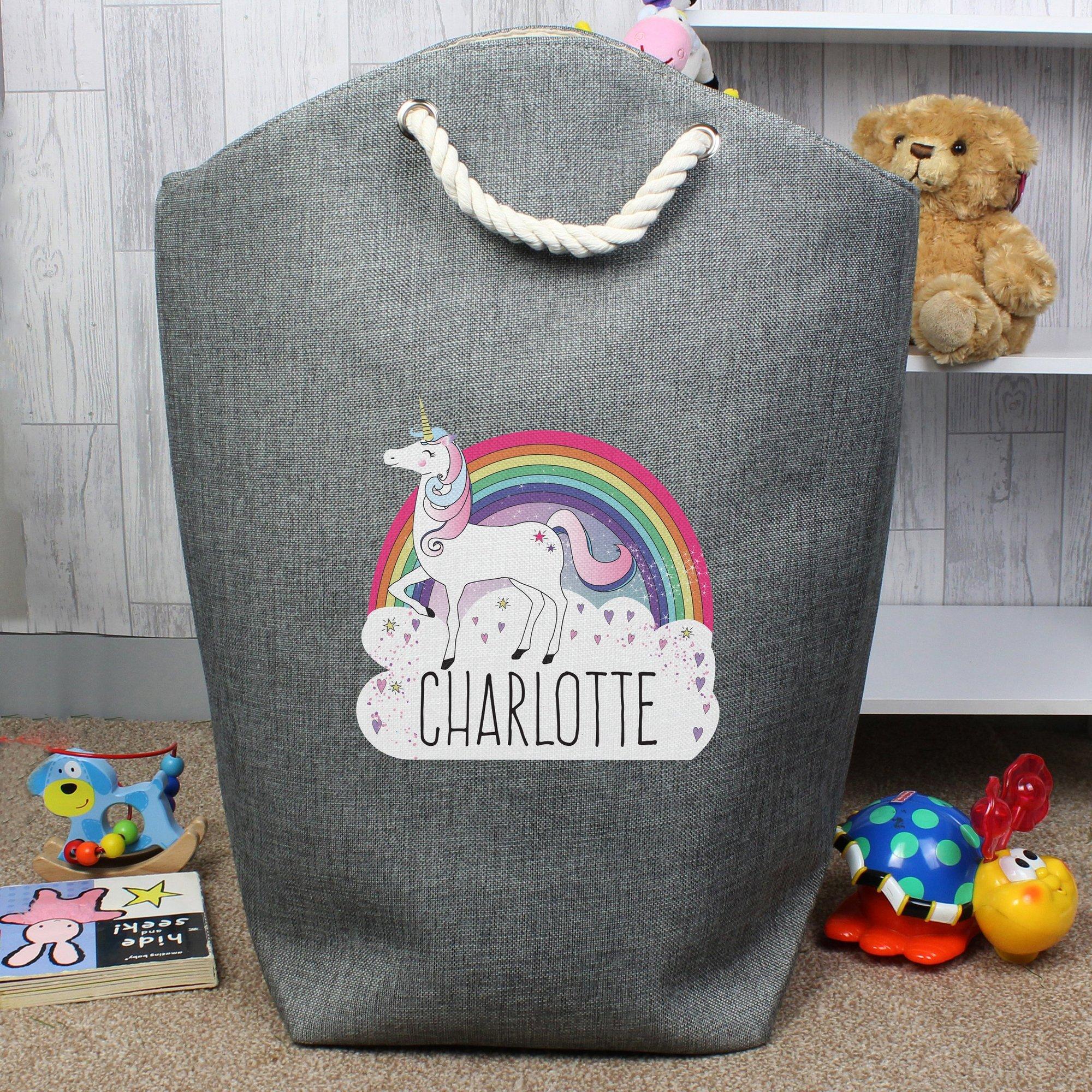 Image of Personalised Unicorn Storage Bag