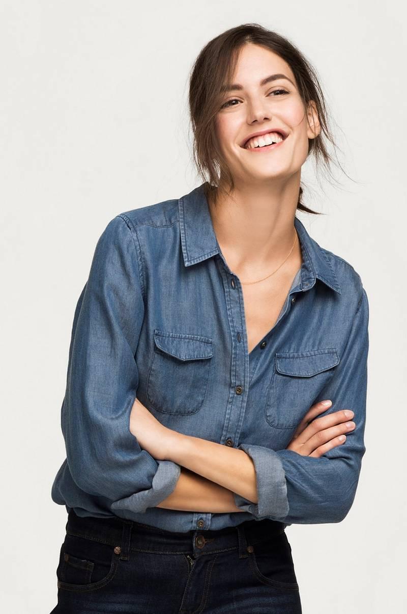 Ellos Collection Skjorte i vid modell Blå Skjorter