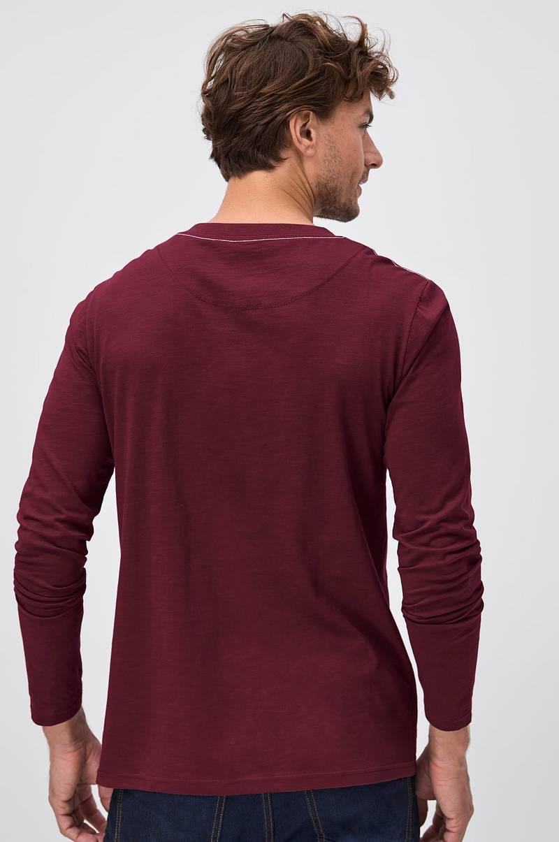 Sons of Owen Langærmet T shirt med knapper Rød Herre