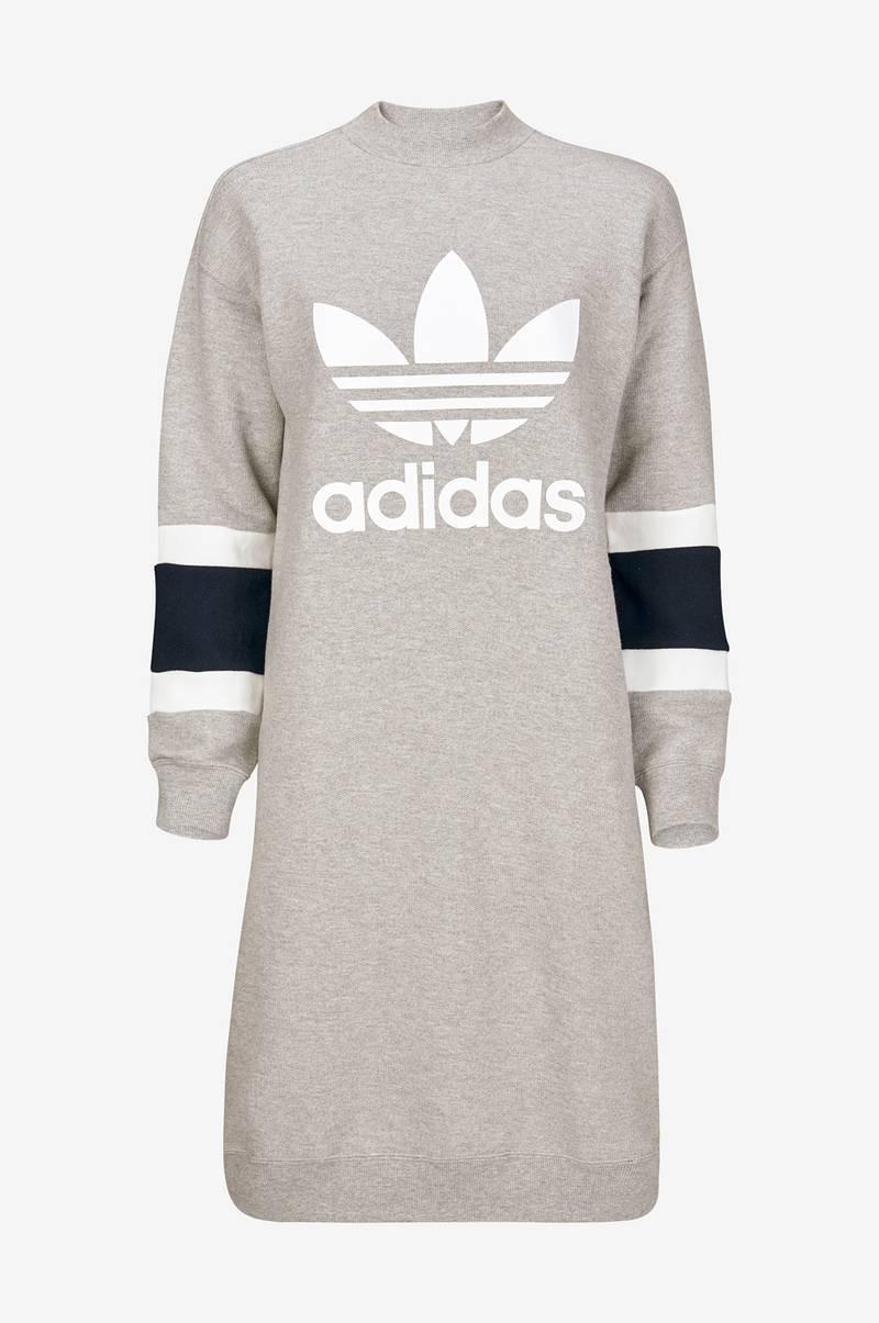 grå adidas dress