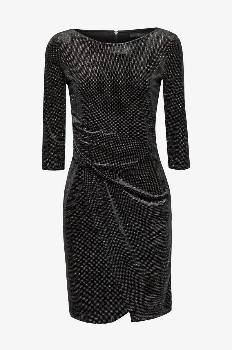 Musta Mekko Esprit Naiset Fleck Dress Glitter fi Ellos nPO0wk8X