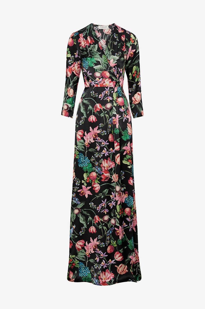 Dress Dress Dress no Dame Ellos Svart Svart Svart Malina Maxikjole Columbine By qw1at1