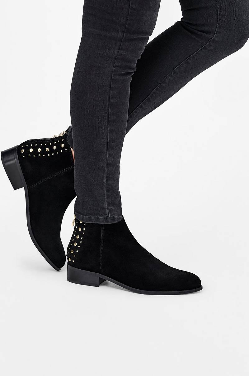 Boots Boots Boots Ellos Ellos Ellos Ellos Svart no Dame Ellos Studs Carol Shoes 55wqCrxT
