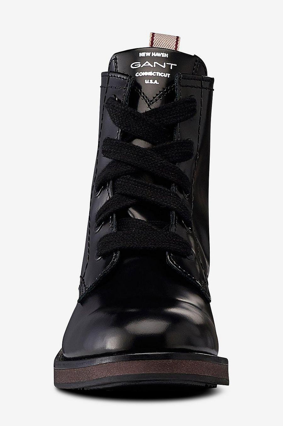 Støvler Støvler no Malin Gant Mid Svart Svart Svart Ellos Lace Boot Dame 4dx8xP6