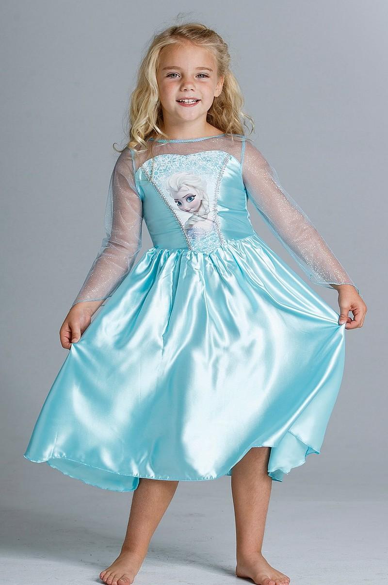 566cdf90fe8 Disney Frozen Frost kjole Elsa, str. 104 - Børn - Ellos.dk