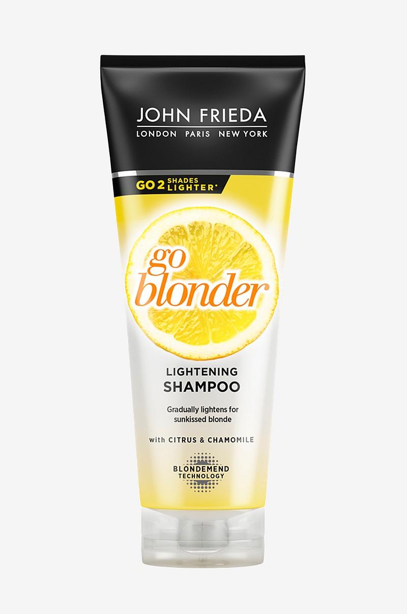 john frieda sheer blonde go blonder shampoo 250 ml kauneus. Black Bedroom Furniture Sets. Home Design Ideas