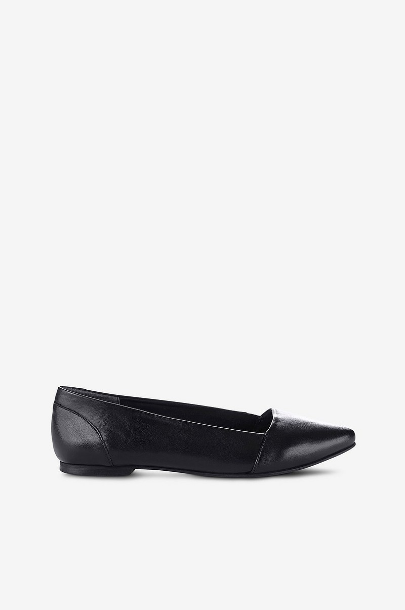 b18da0eb050 Ellos Shoes Ballerinasko af skind med spids tå - Sort - Dame - Ellos.dk
