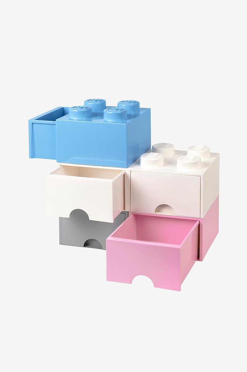LEGO LEGO opbevaring 4 med skuffe, lyseblå - Børn - Ellos.dk