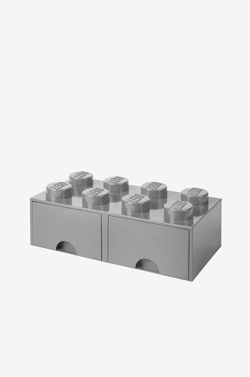 LEGO LEGO opbevaring 8 med skuffer, grå - Børn - Ellos.dk