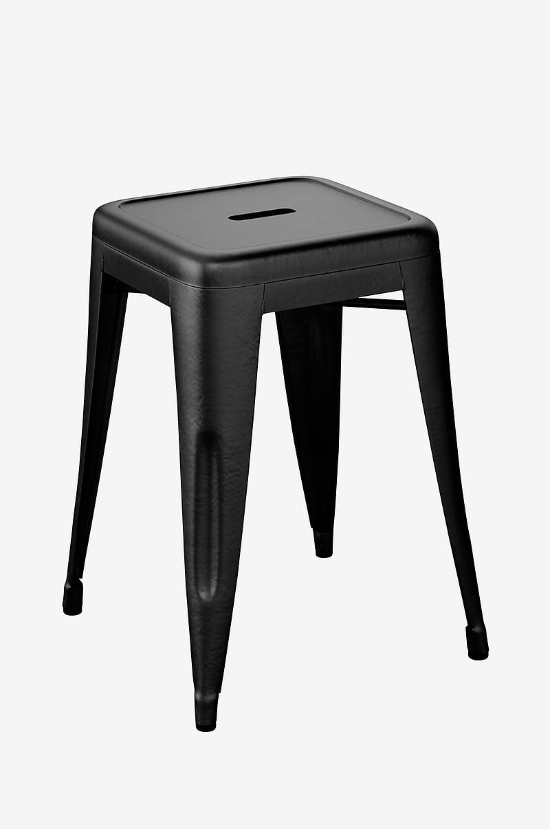 tolix tabouret h 50 cm svart hjem innredning. Black Bedroom Furniture Sets. Home Design Ideas