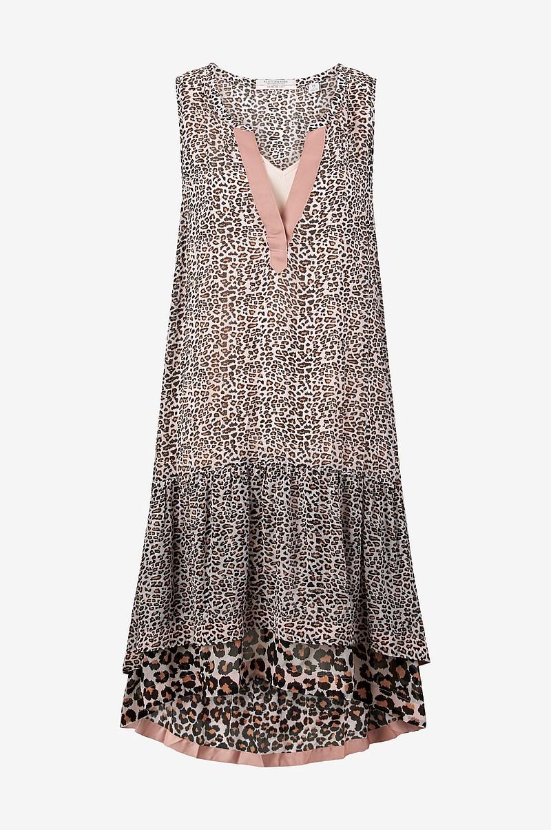 scotch soda kjole animal print sort dame. Black Bedroom Furniture Sets. Home Design Ideas