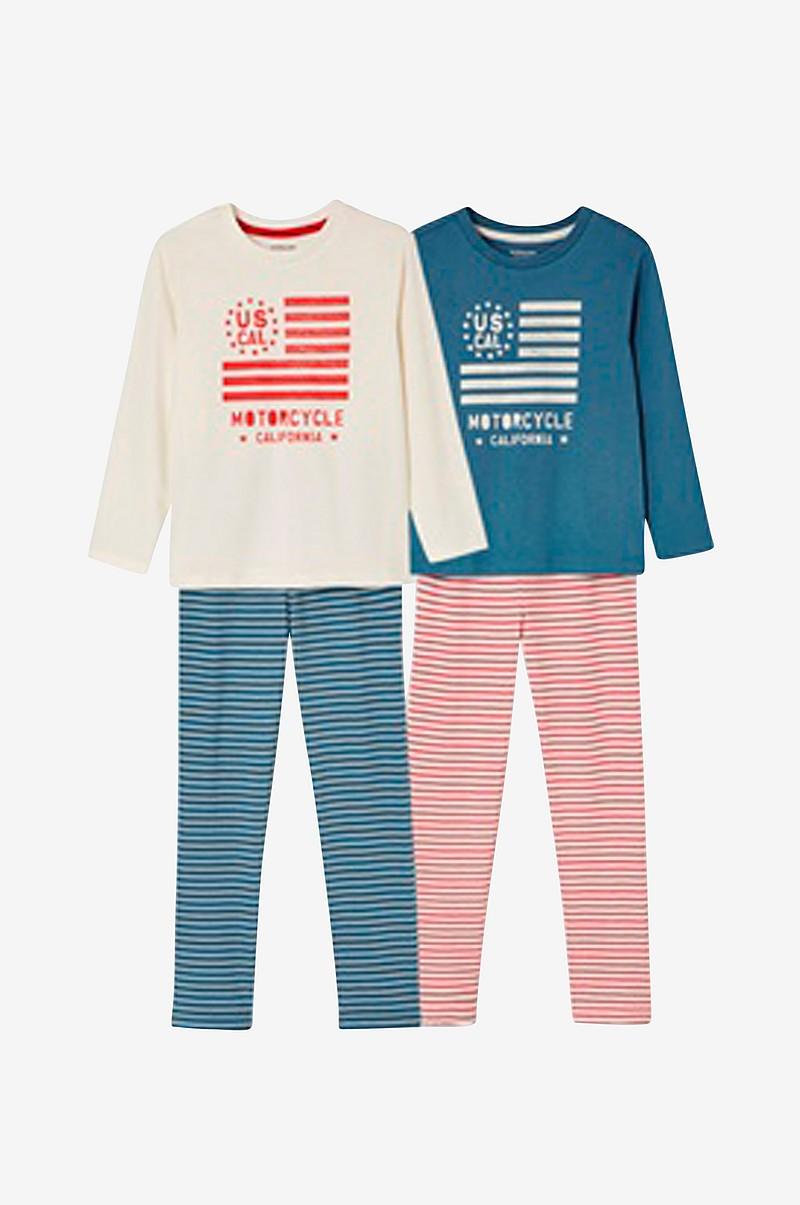Vertbaudet Pyjamas 2-pack - Blå - Barn - Ellos.se c667306690d59