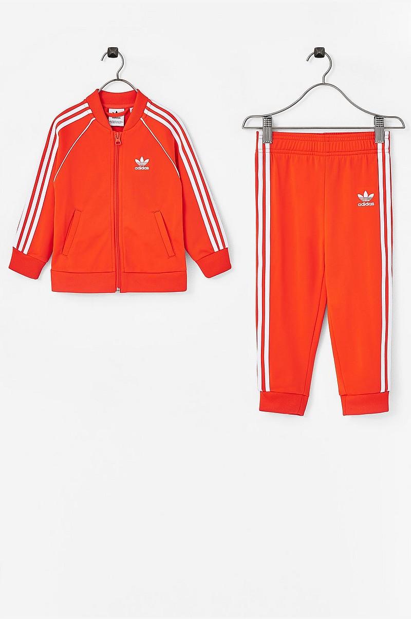 88641327 adidas Originals Treningsdress Superstar Suit - Rød - Barn - Ellos.no