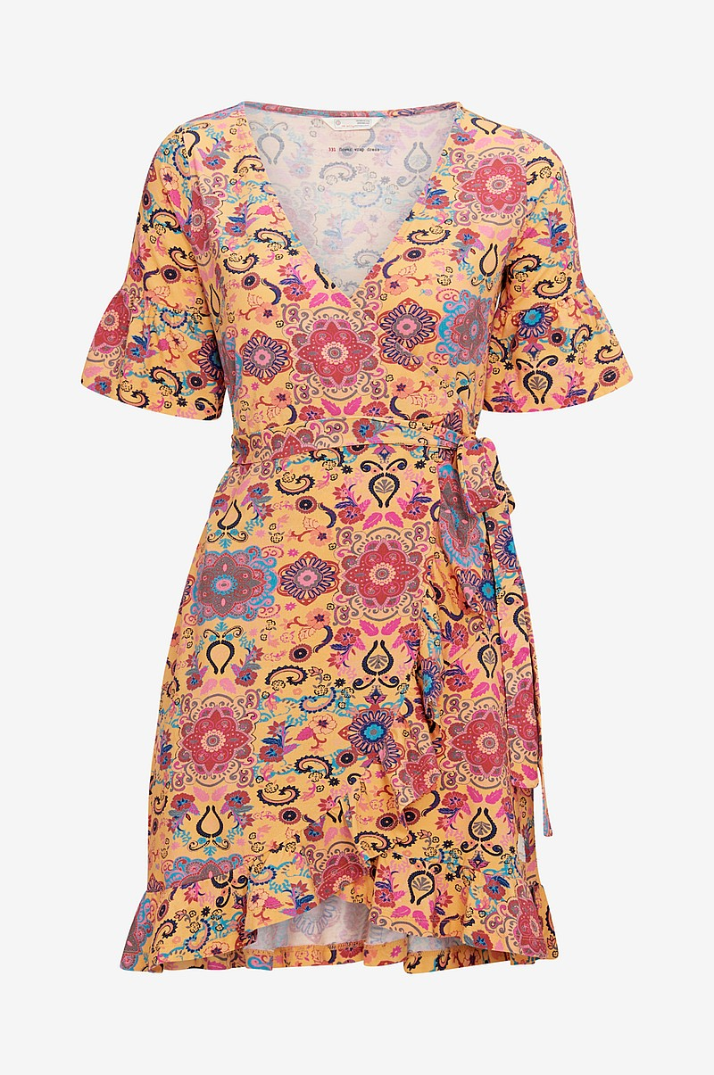 Omslagskjole Flower Wrap Dress