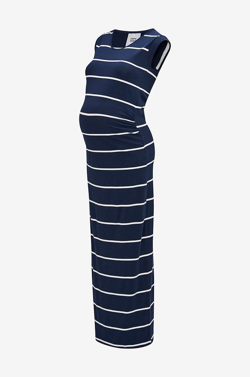 dfa03090 Mamalicious Mammakjole mlAlly S/S Jersey Maxi Dress - Blå - Dame ...