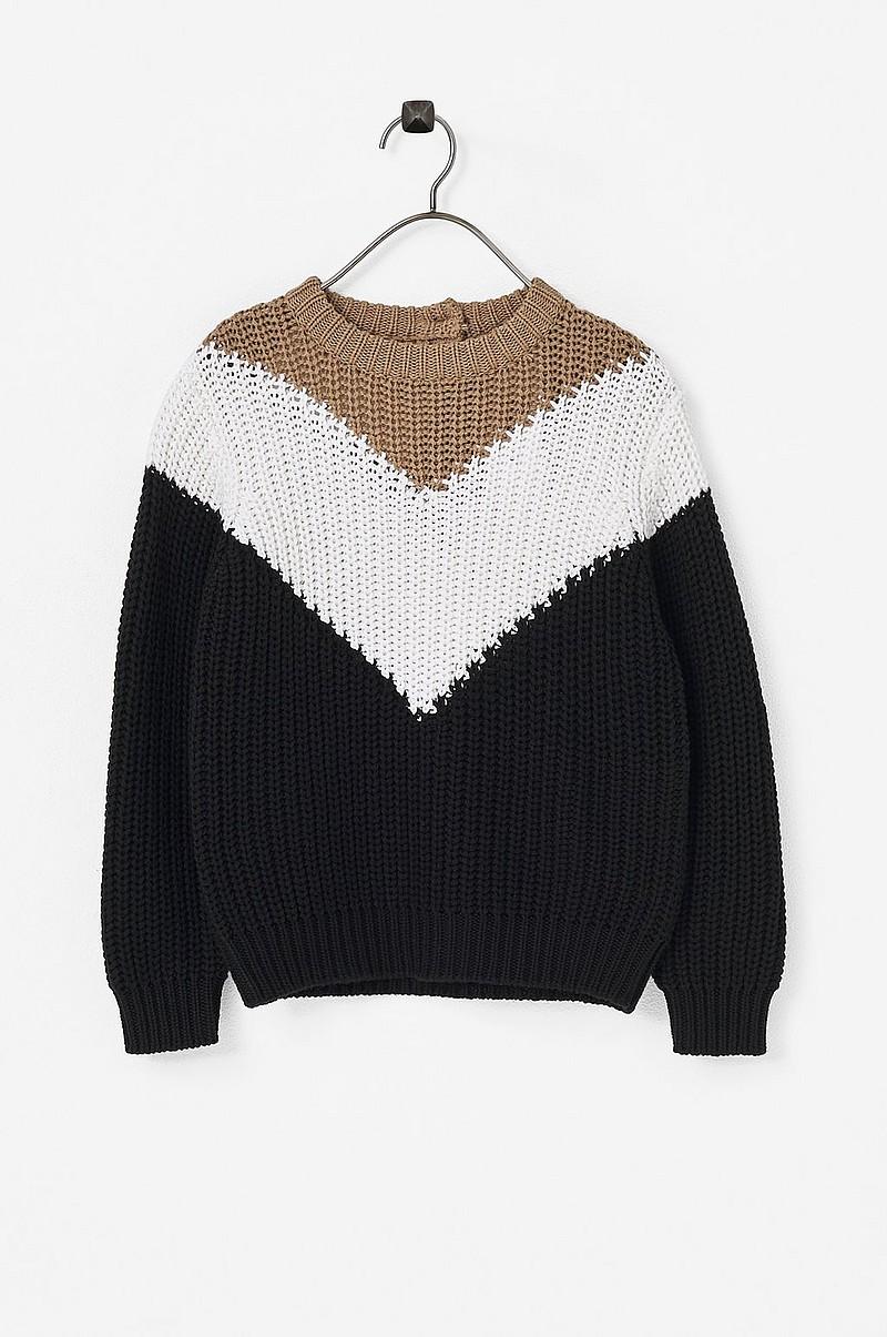 a3e39f20 Gina Tricot Genser Mini Block Knitted Sweater - Svart - Barn - Ellos.no