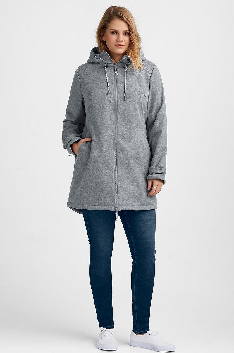 1ad1b9dc Ellos Plus collection Softshell-jakke med hætte - Grå - Dame - Ellos.dk