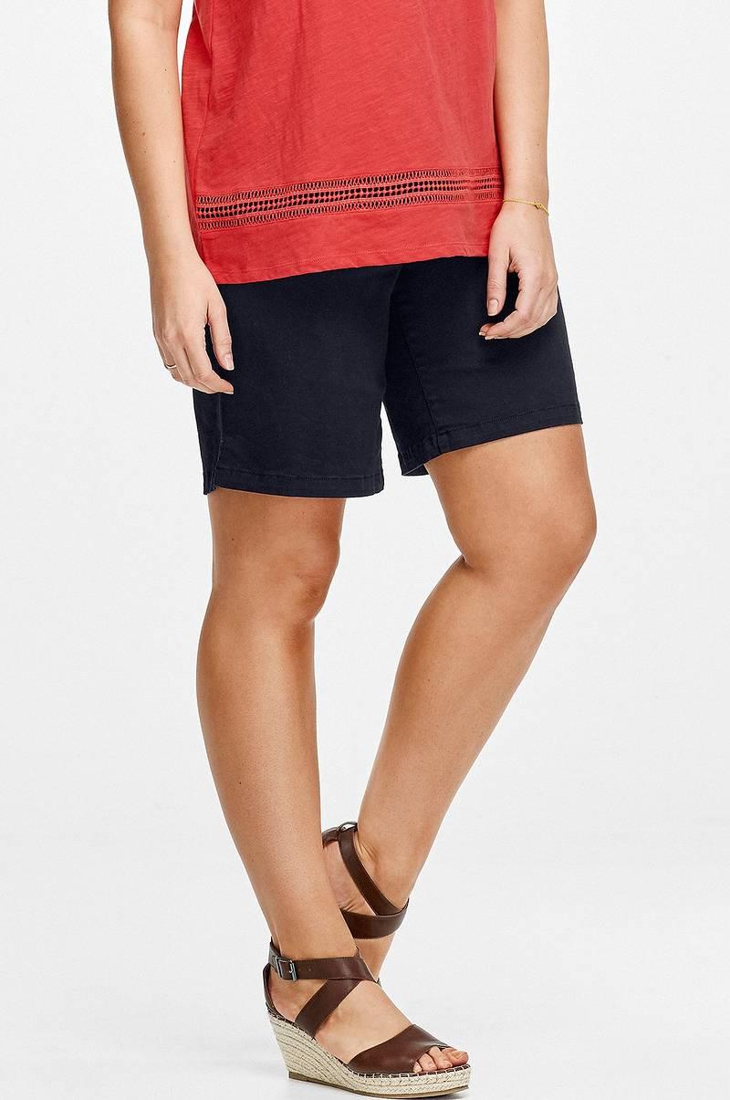 3fec8a8104c Ellos Plus collection Shorts med elastik i taljen - Blå - Dame ...