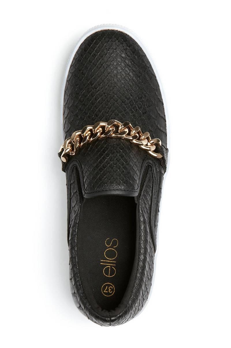 958392e4151 Ellos Shoes Sneakers med kæde - Sort - Dame - Ellos.dk