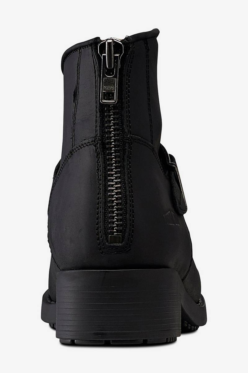 d21fac64 Johnny Bulls Short Biker boots av skinn, 35-41 - Svart - Dame - Ellos.no