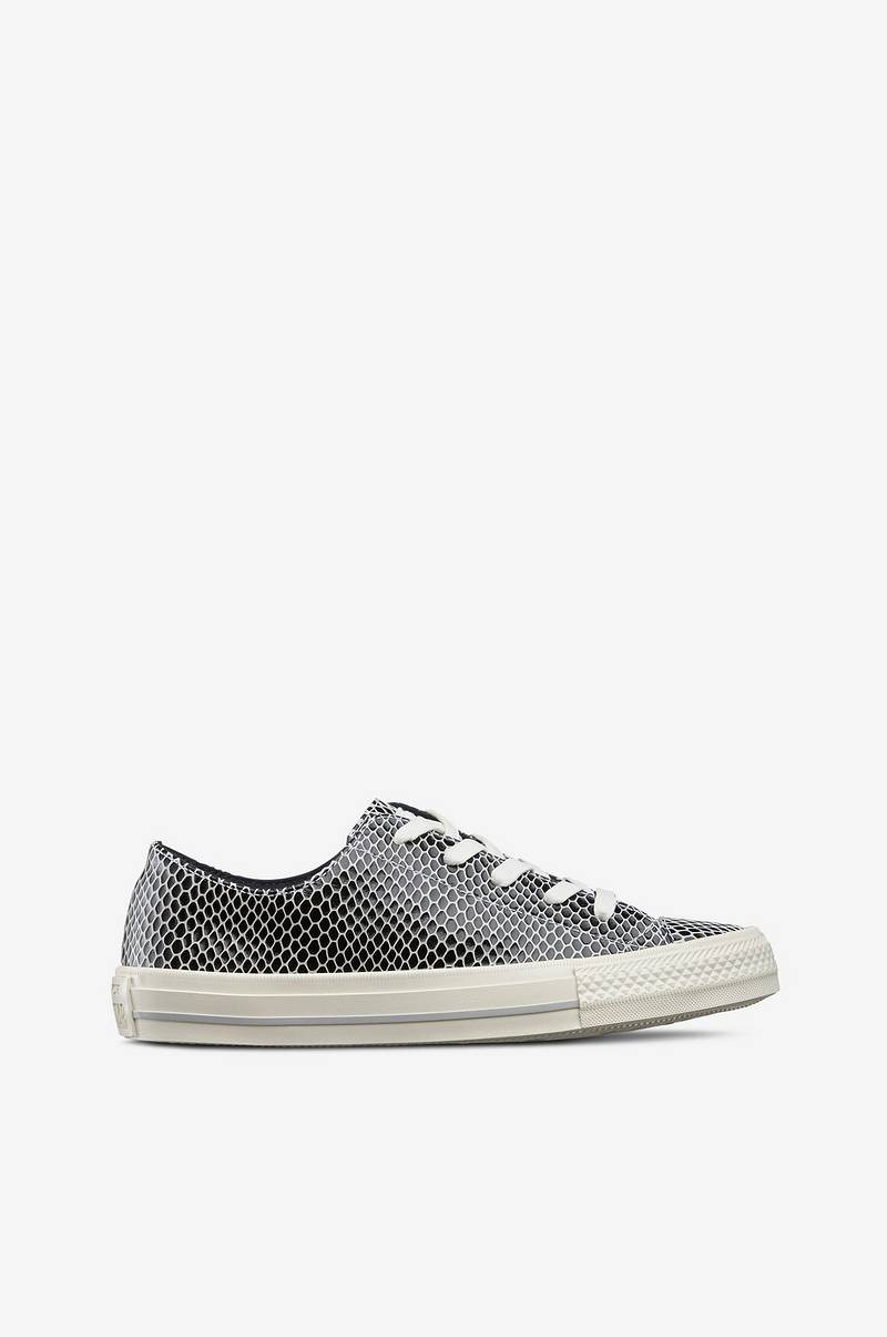 Converse Sneakers Chuck Taylor All Star Gemma Scaled Leather - Svart ... 2f652d9554130