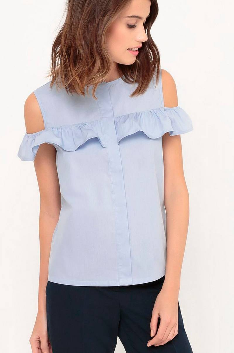 Cold shoulder-topp