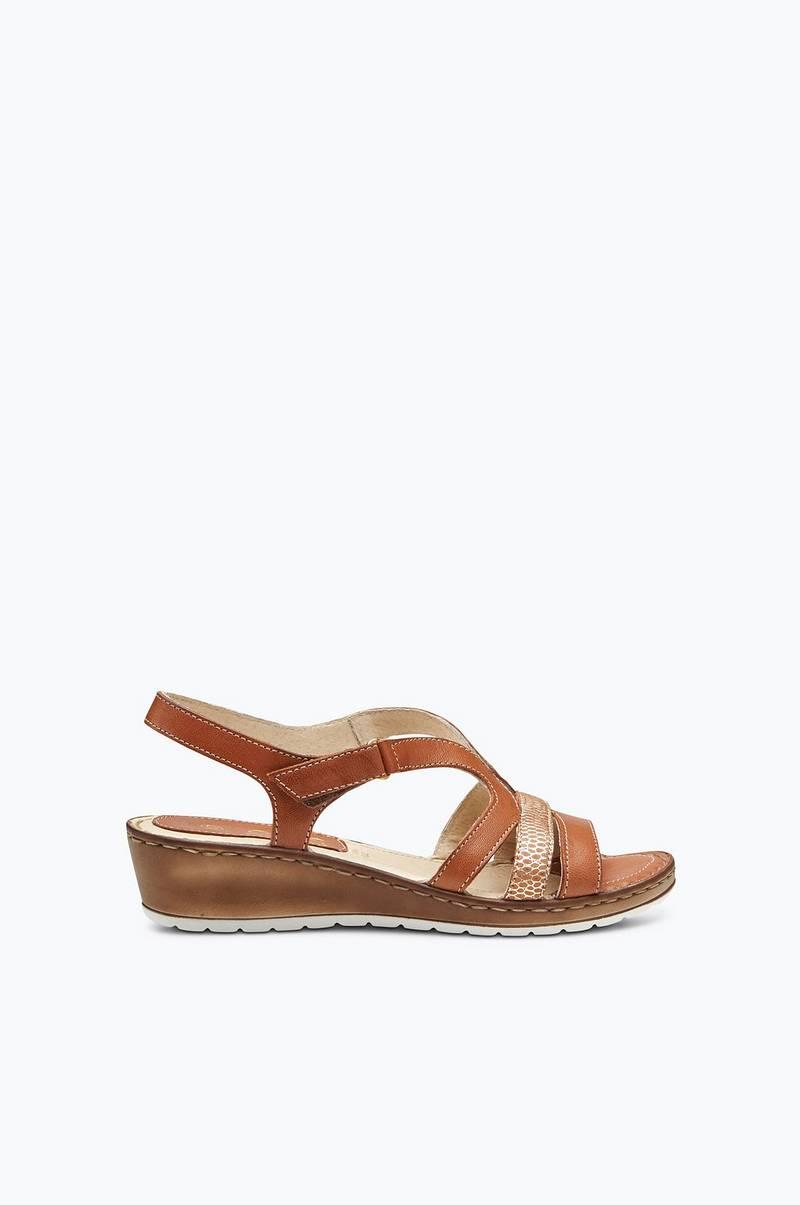 341300faa13e Ellos Shoes Sandal komfort med kilklack - Brun - Dam - Ellos.se