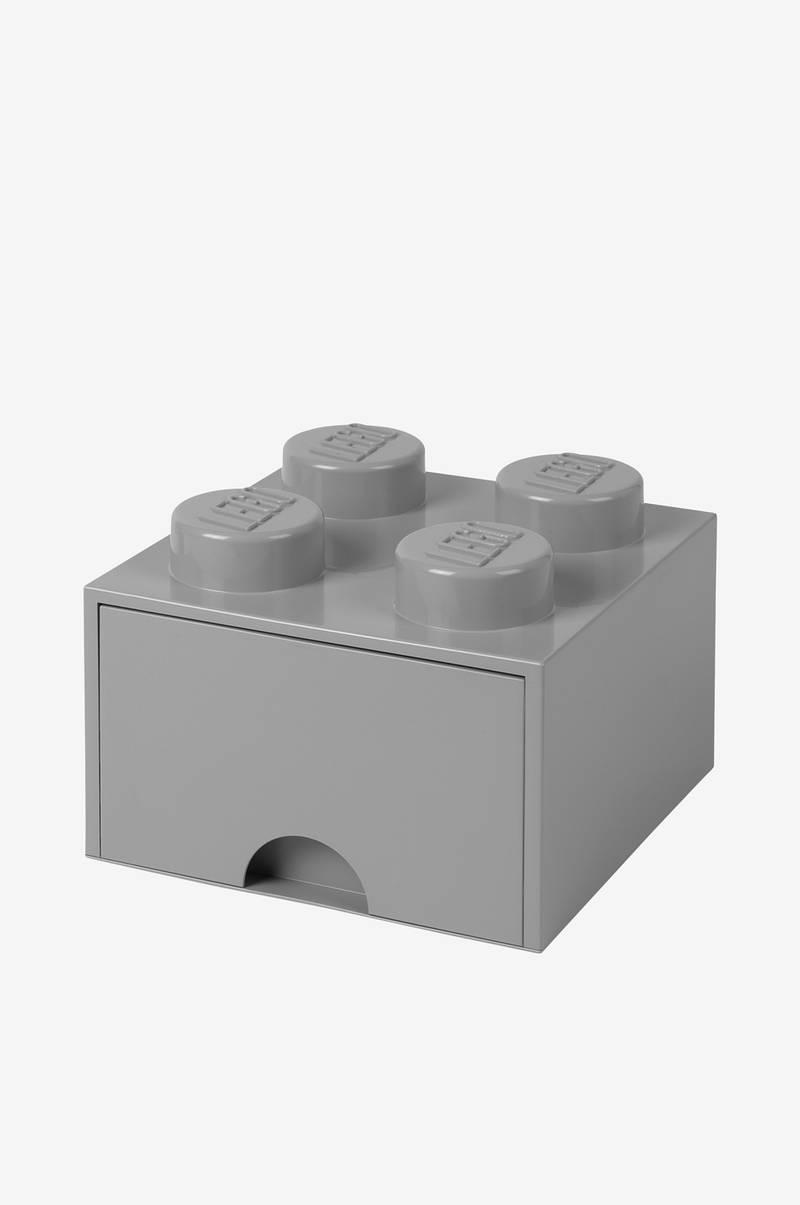 LEGO LEGO opbevaring 4 med skuffe, grå - Børn - Ellos.dk