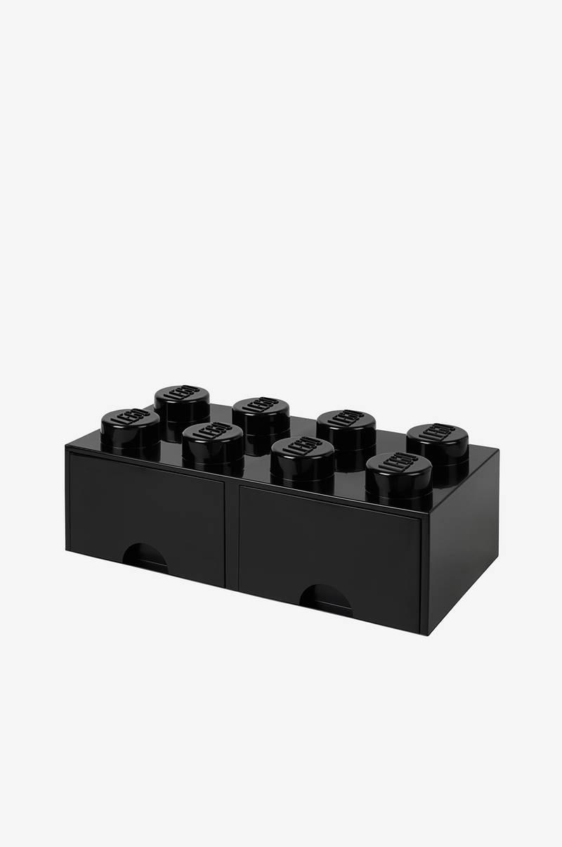 LEGO LEGO opbevaring 8 med skuffe, sort - Børn - Ellos.dk