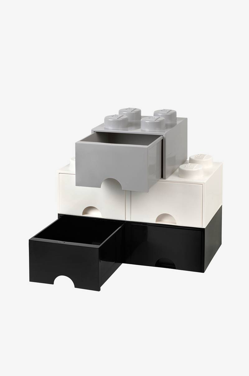LEGO LEGO opbevaring 8 med skuffe, hvid - Børn - Ellos.dk