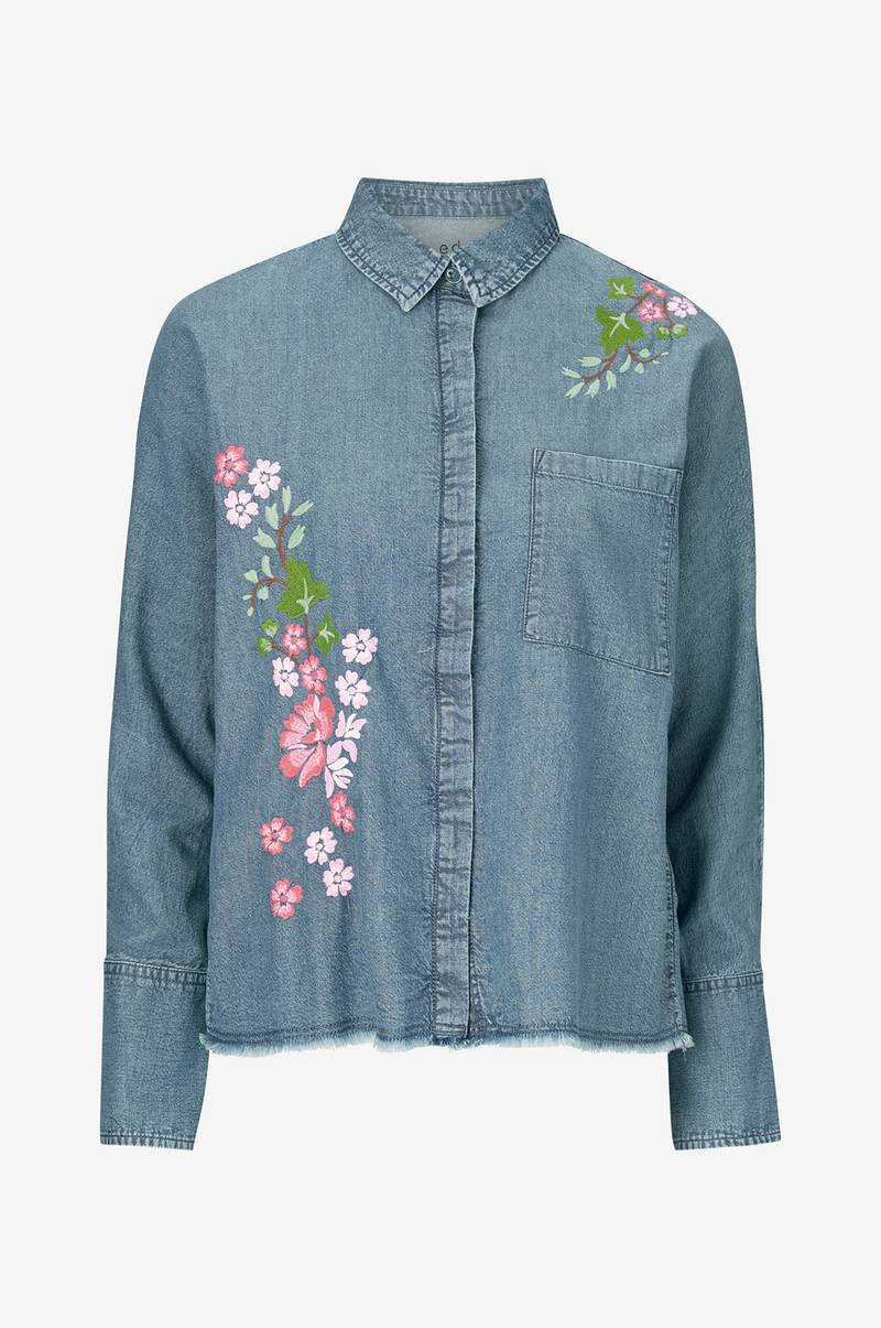 Skjorta Denim Embro Blouse