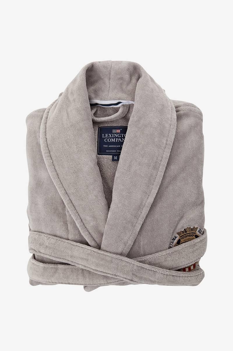 Lexington Badrock Lexington Velour Robe - Grå - Hem   inredning ... 3be8f69bc0456