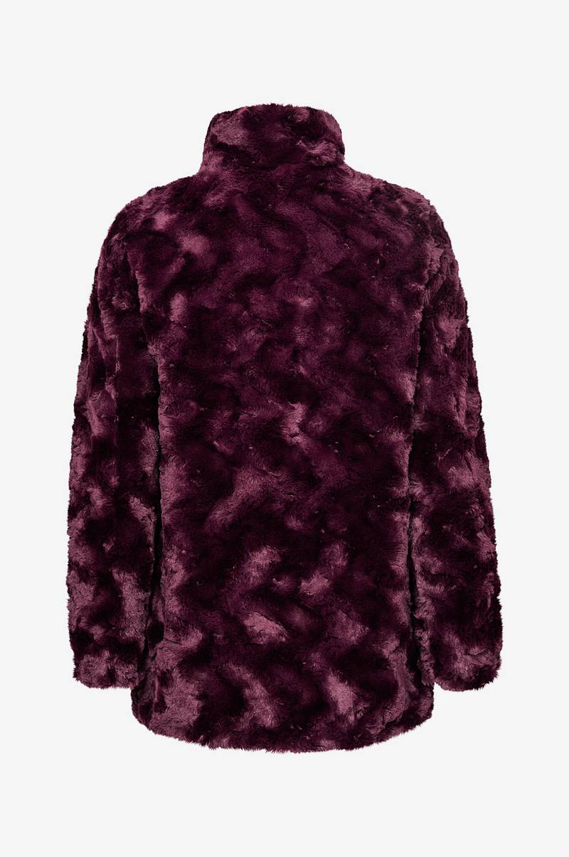 Fuskpäls vmCurl High Neck Faux Fur Jacket