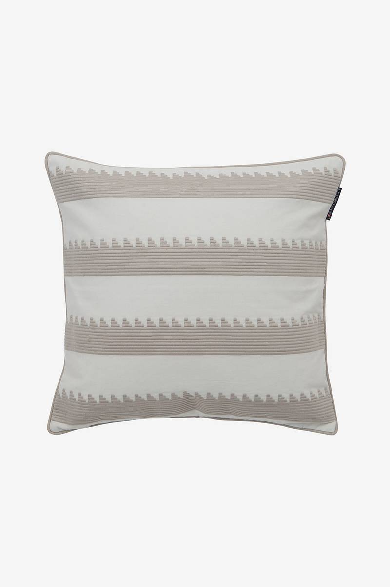 Kuddfodral Embroidery Striped Sham