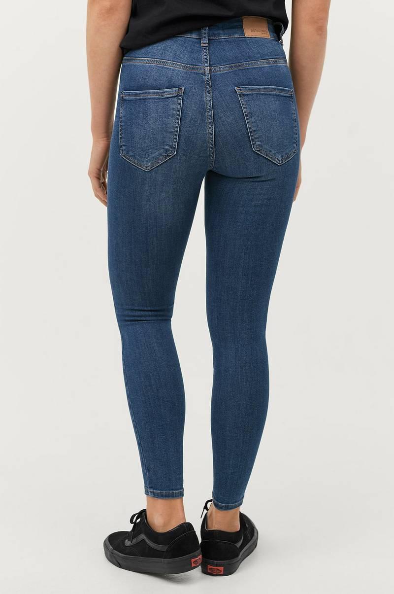 7ca39a14ebb Gina Tricot Jeans Molly High Waist Petit - Blå - Dame - Ellos.dk
