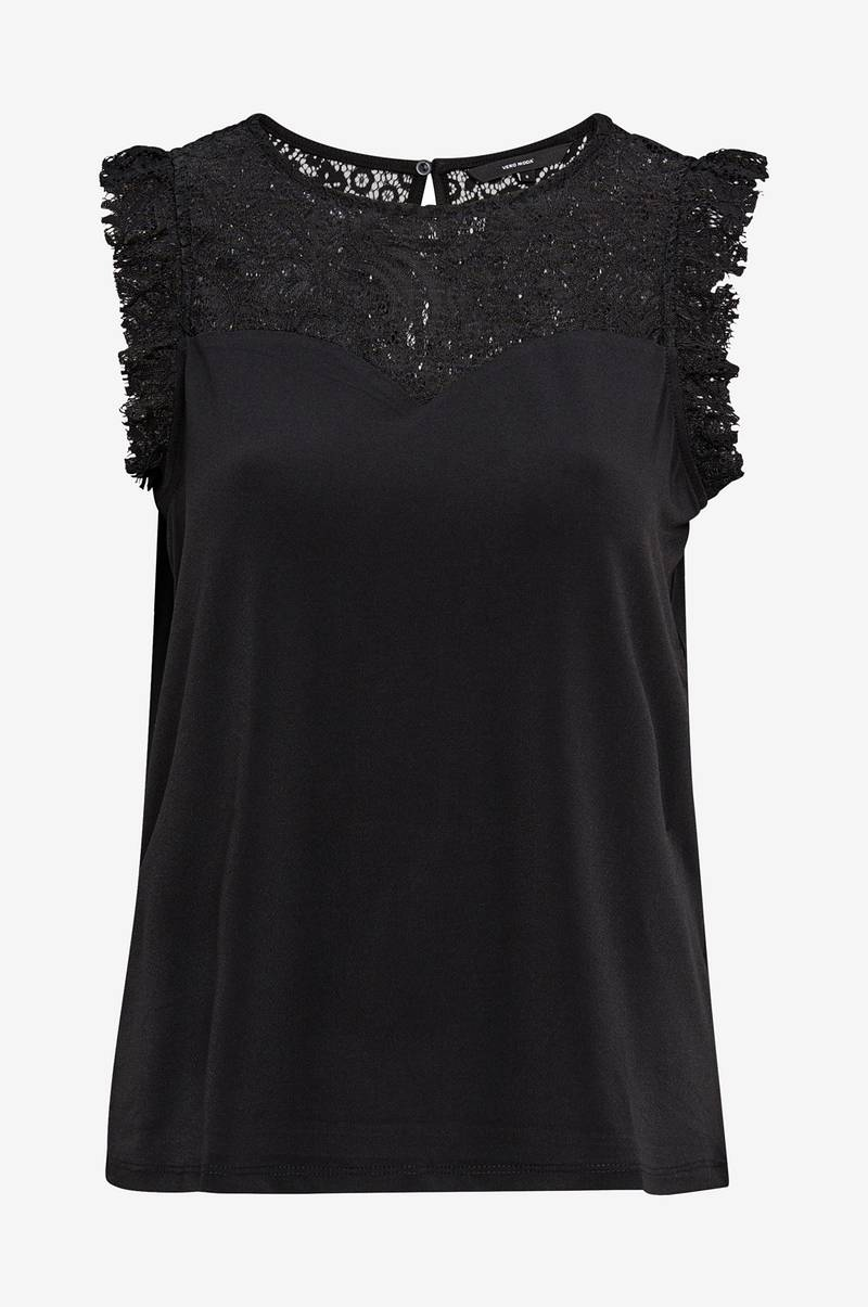 Toppi vmAlberta Sweetheart Lace S/L Top