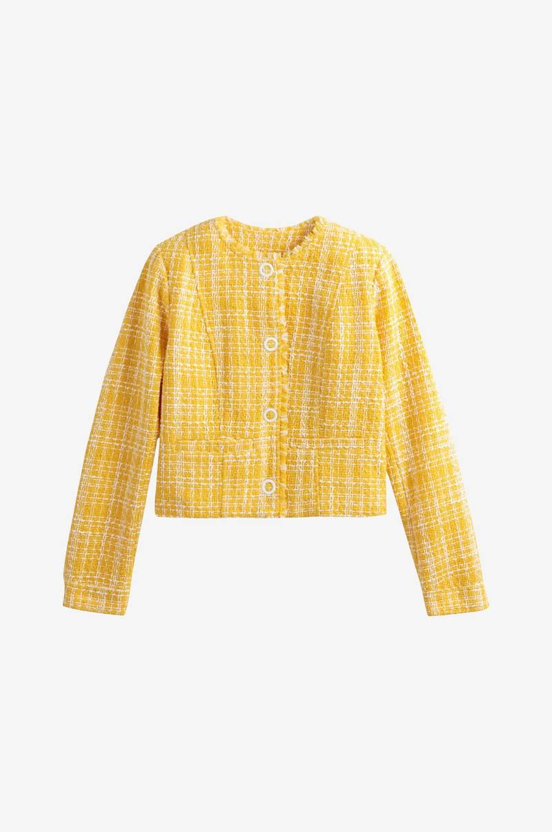 cb436c43 La Redoute Collections Jacquardmønstret jakke i kort, rett modell ...