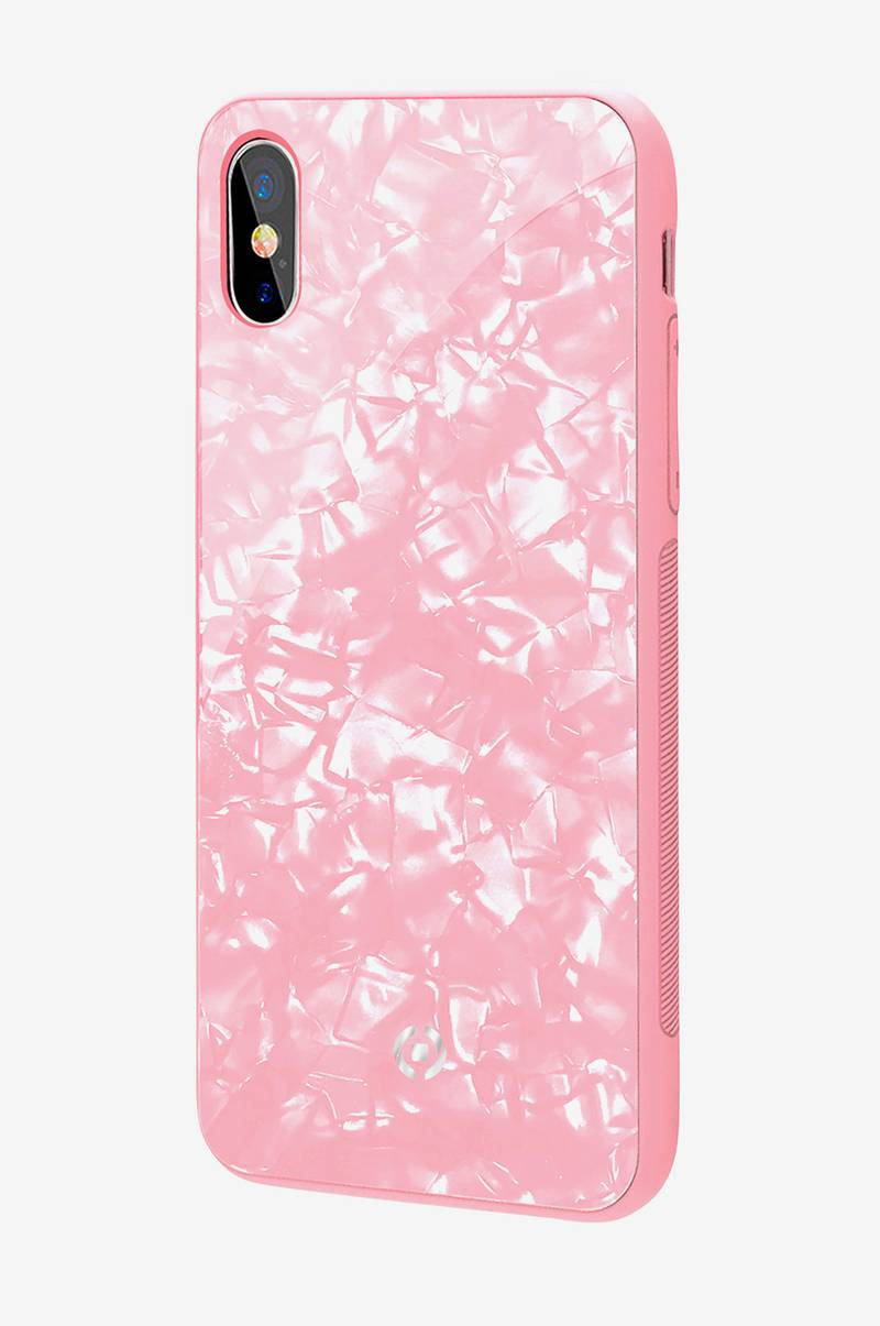Pearl cover iPhone X Rosa