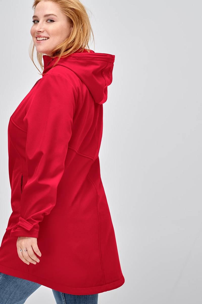 09f39775 Ellos Plus collection Softshell-jakke med hætte - Rød - Dame - Ellos.dk