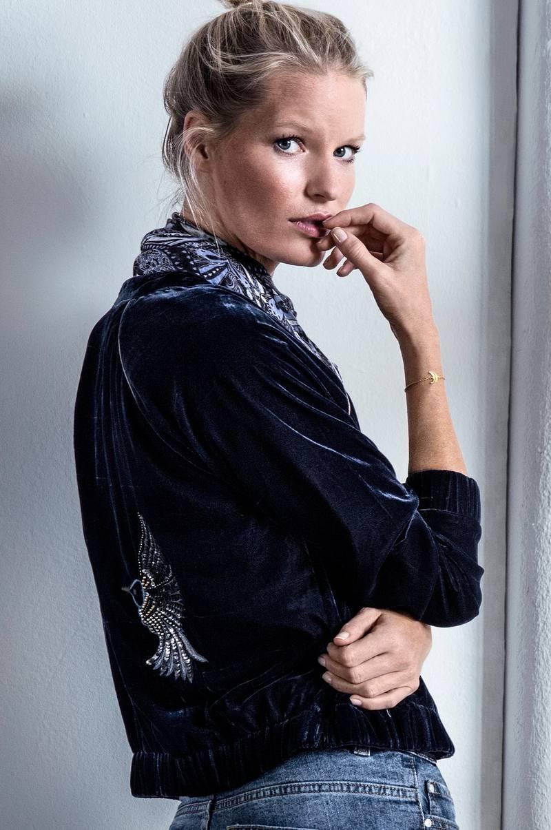 3c518550 Joelle Fløyelsjakke Marigold - Blå - Dame - Ellos.no