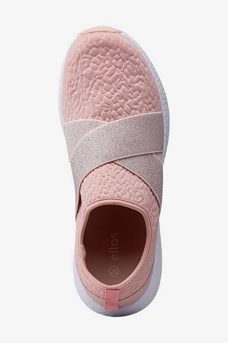 Sneakers Slip On med glitter