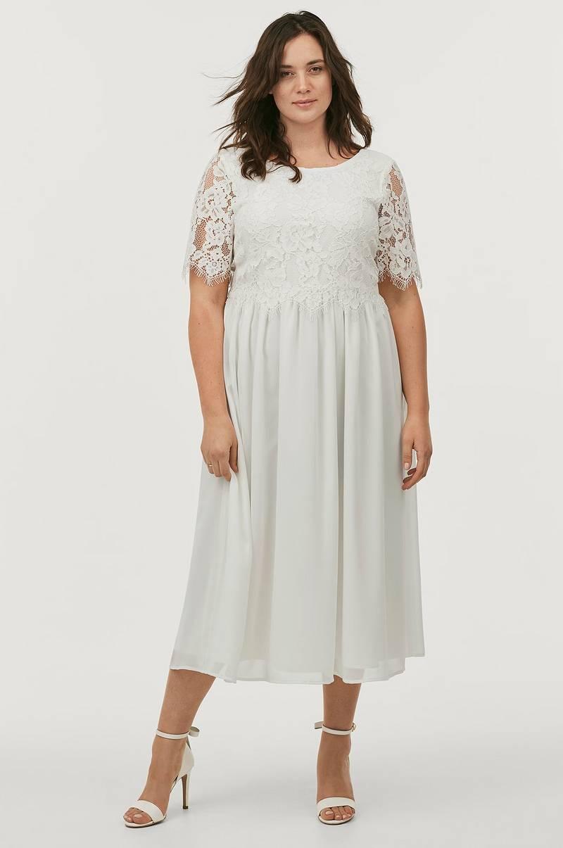 a6070139598d Ellos Plus collection Brudekjole med smukke detaljer - Hvid - Dame ...