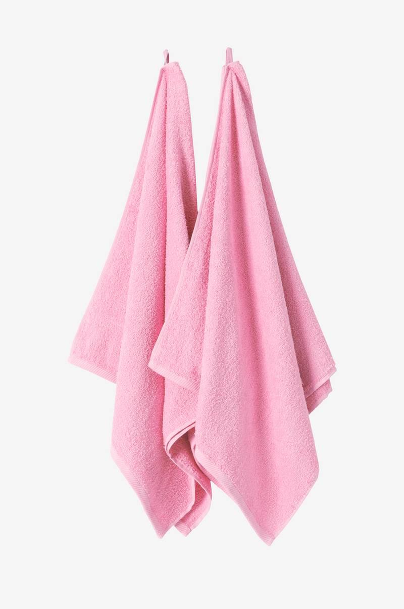 Jotex AMELIE badlakan 2-pack - Rosa - Textilier - Homeroom.se 7d300921e2078