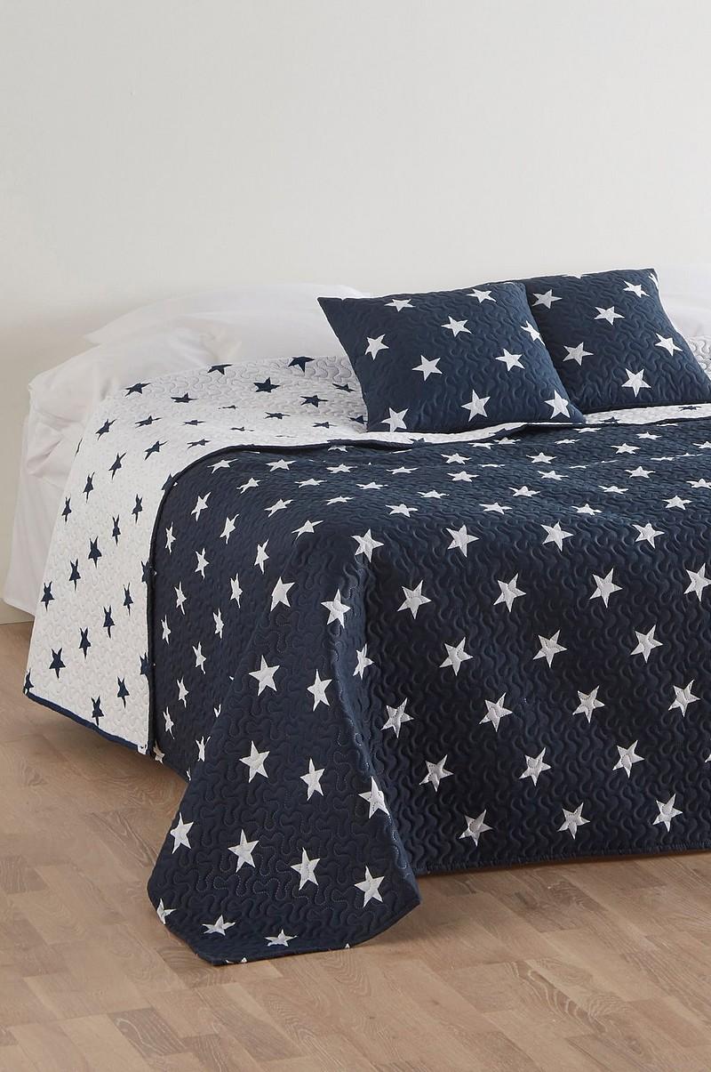 Fantastisk Hampton HAMPTON sengetæppe og 2 pudebetræk - Blå - Sengetøj - Jotex.dk UE38