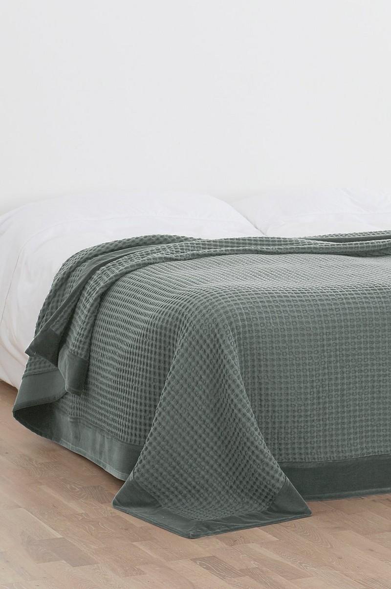Fantastisk Diya DIYA sengetæppe dobbeltseng 260x260 cm - Grå - Sengetøj HD37