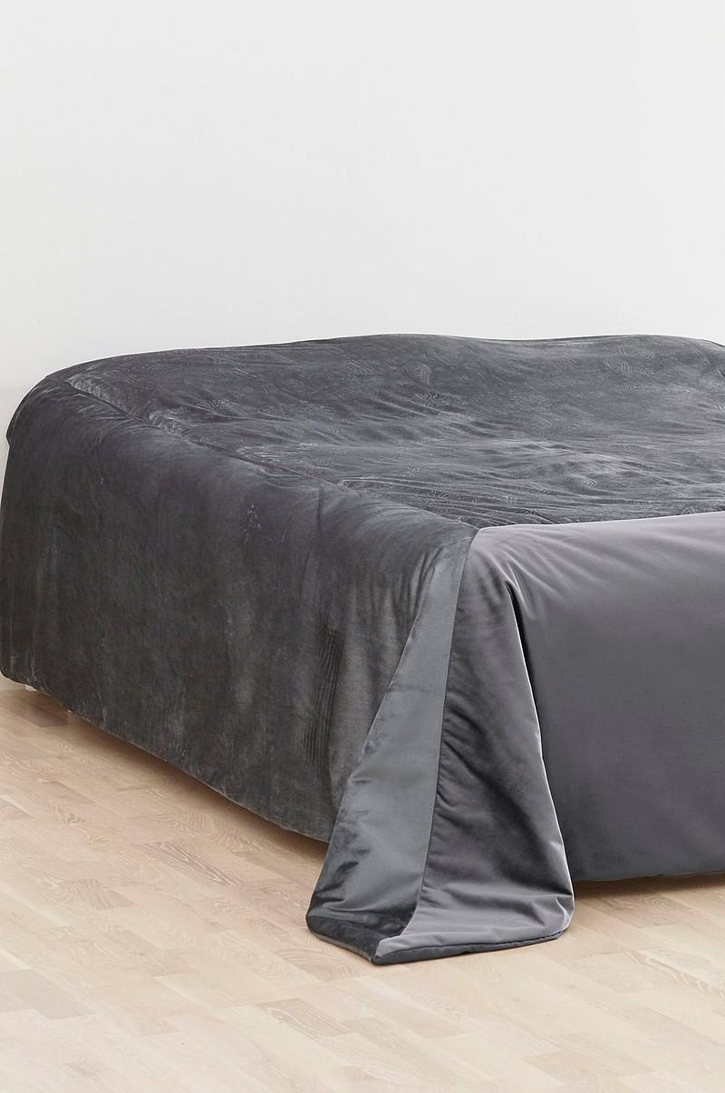 Svært ELINA ELINA sengeteppe - dobbeltseng 260x260 cm - Grå - Sengetøy UC-09