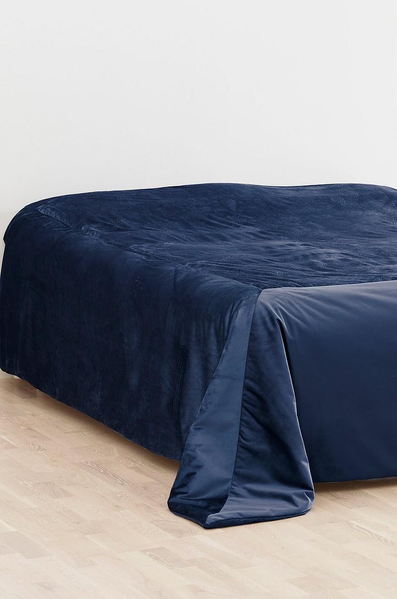 Oprindeligt ELINA ELINA sengetæppe til dobbeltseng 260x260 cm - Blå - Sengetøj PL99